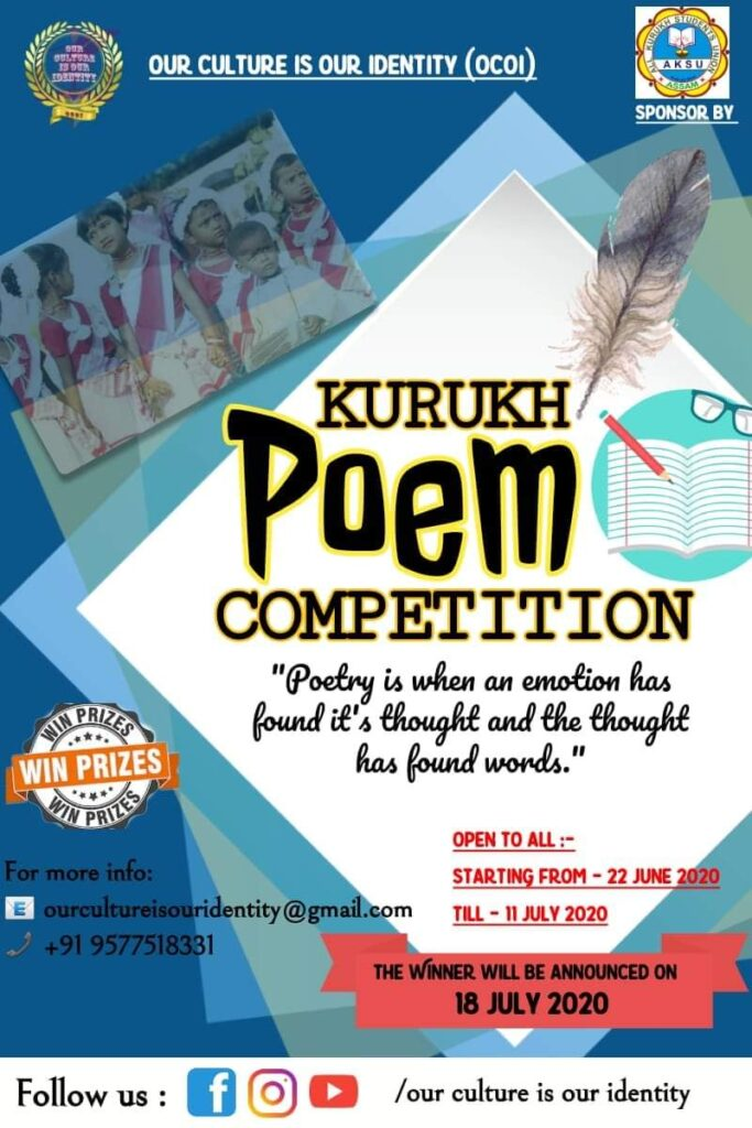 Kurukh Poem Competition | OCOI | Sponsored by AKSU | Neetisha Xalxo on Tribalzone Magazine | A Media Platform for the Adivasis of Chotanagpur